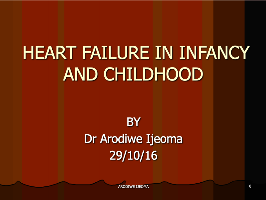 HEART FAILURE IN CHILDREN