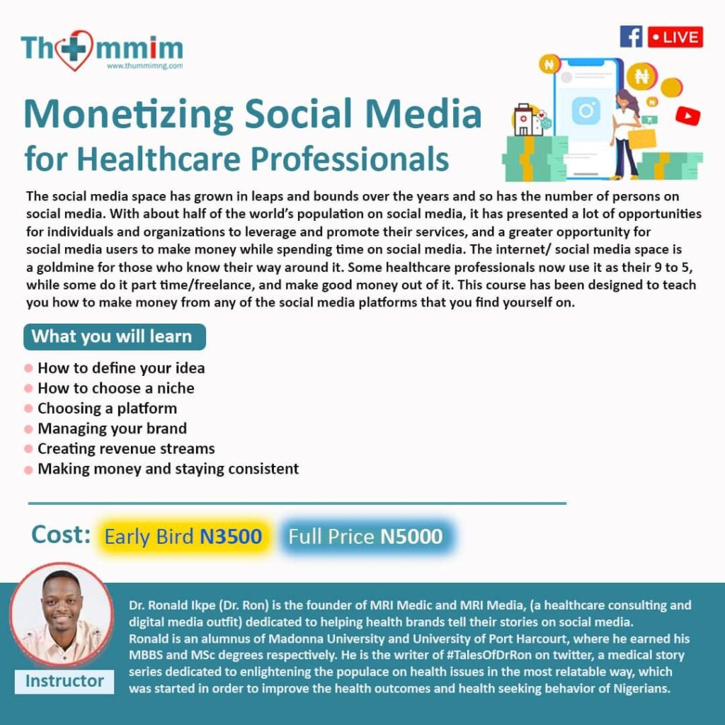 Monetizing Social Media for Healthcare Professionals