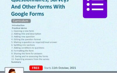CREATE QUIZZES, QUESTIONNAIRES, AND OTHER SURVEYS WITH GOOGLE FORMS